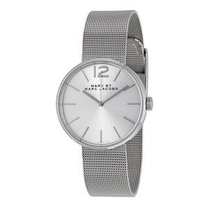 Marc by Marc Jacobs Silver Peggy Milanese Watch